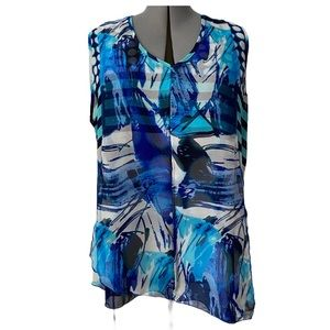 Graphic print asymmetrical tunic 2X by Ness